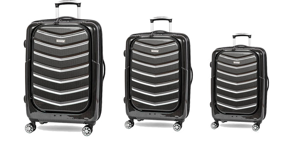 Tosca Prime Lite 3PC Luggage Set in Black