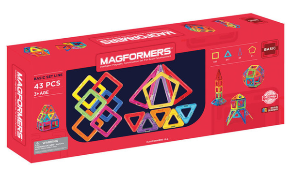 Magformers Basic Set Line 43 Pieces (3+ Years)