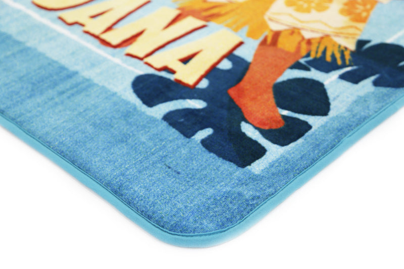 Non Slip Blue Kids Disney Moana Princess Chief and Friends Area Rug Baby Play Mat