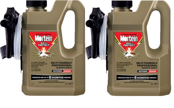Mortein Outdoor Surface Spray 2 x 2 Litre
