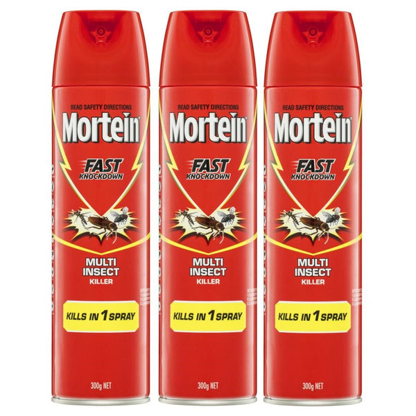 Mortein Fast Knockdown Multi Insect Killer Spray 3 x 300g