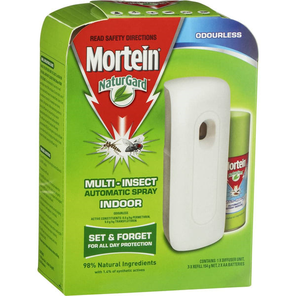 Mortein Naturgard Auto Indoor Insect Control System Odourless with 3 x 154g Refills