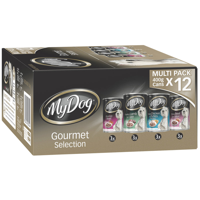 My Dog Gourmet Selection Multi Pack 12 x 400g