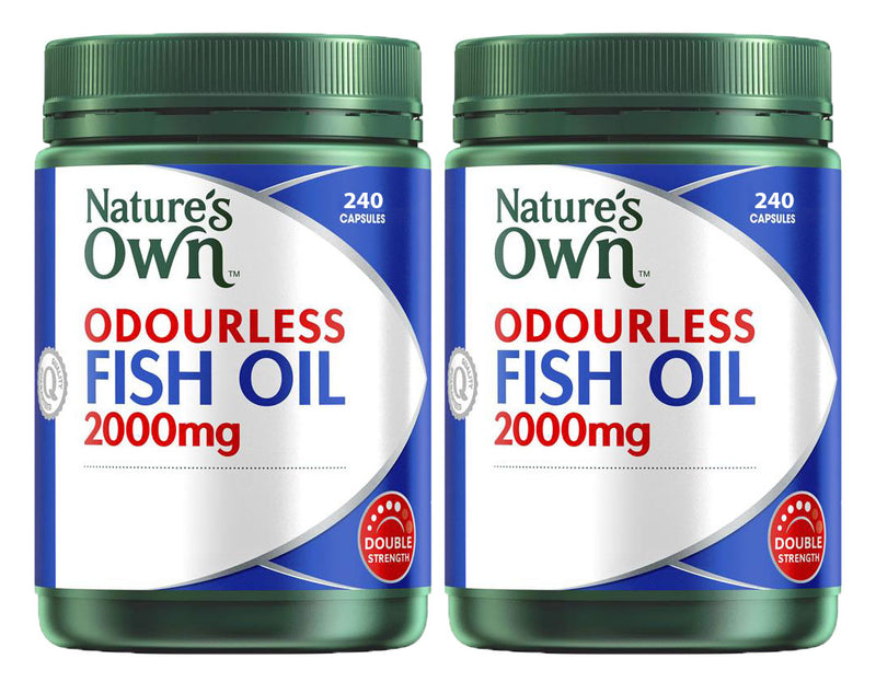 Nature's Own Odourless Fish Oil 2 x 240 Capsules 2000mg