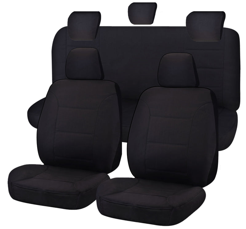 Tailor Made Challenger II Seat Covers for TOYOTA HILUX  04/2005-06/2015 DUAL CAB UTILITY BLACK