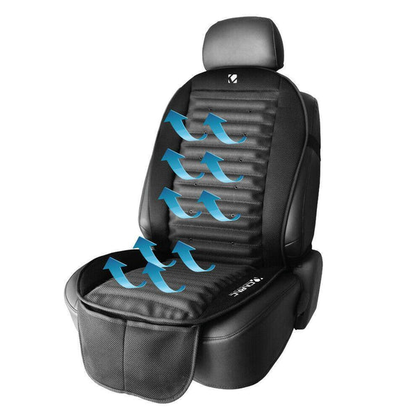 Cooling Car Seat Cushion with 3D Design & Cooling Fan Control - 12v DC