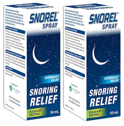 Snorel Snoring Relief Spray 2 x 50mL