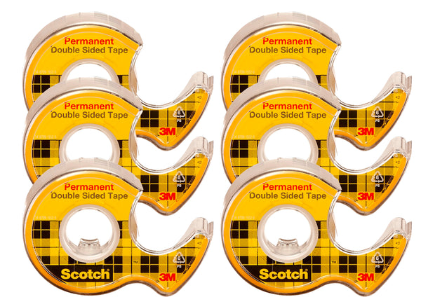 Scotch Double Sided Tape 6 Pk