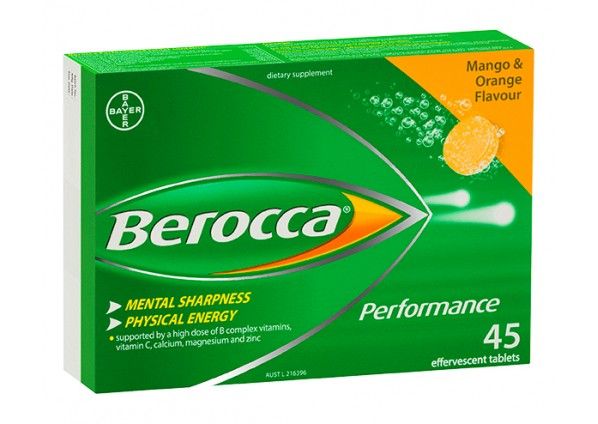 Berocca Performance Mango and Orange 45 Effervescent Tablets