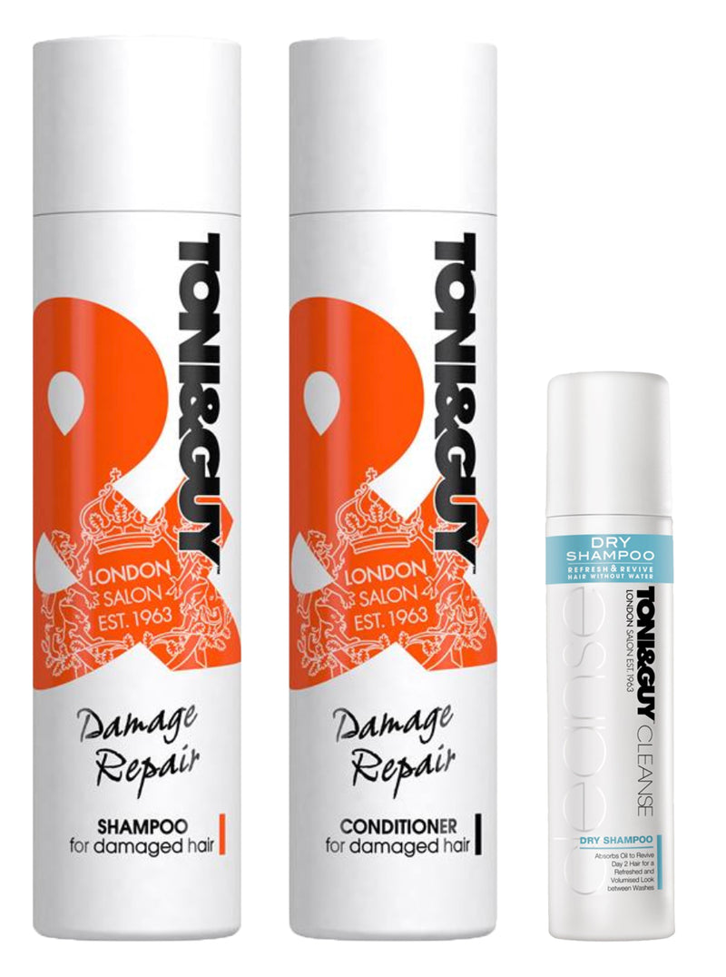 Toni & Guy Damage Repair Pack (Shampoo + Conditioner Dry Shampoo)