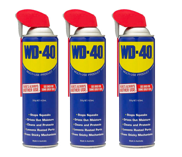 WD-40 Lubricant with Smart Straw 3 x 350g