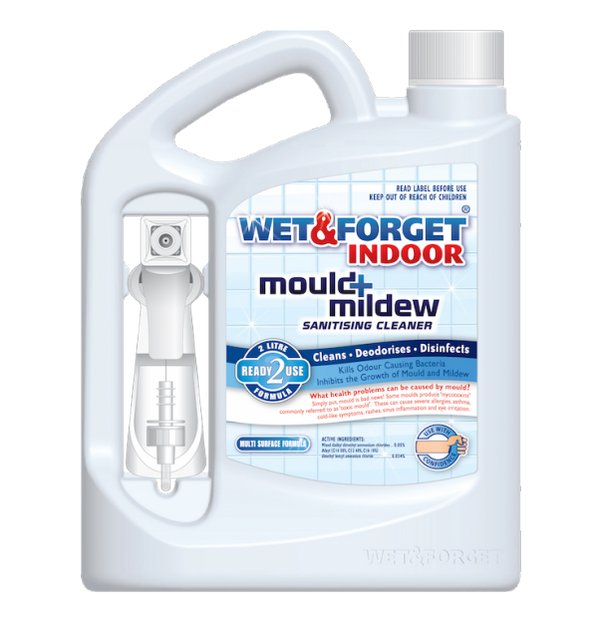 Wet & Forget Indoor - Mould+Mildew Sanitising Cleaner 2L