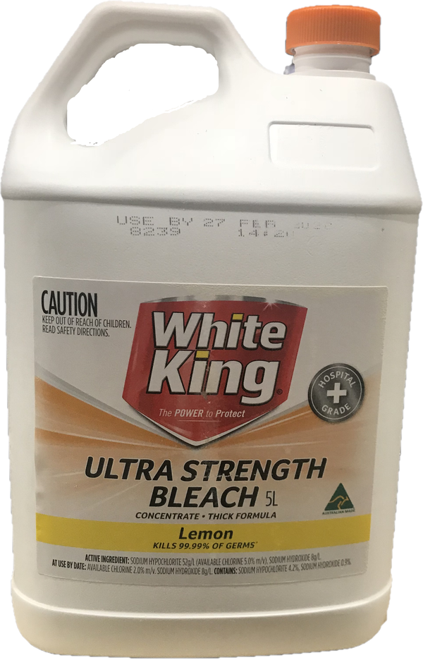 White King Ultra Strength Bleach 5L