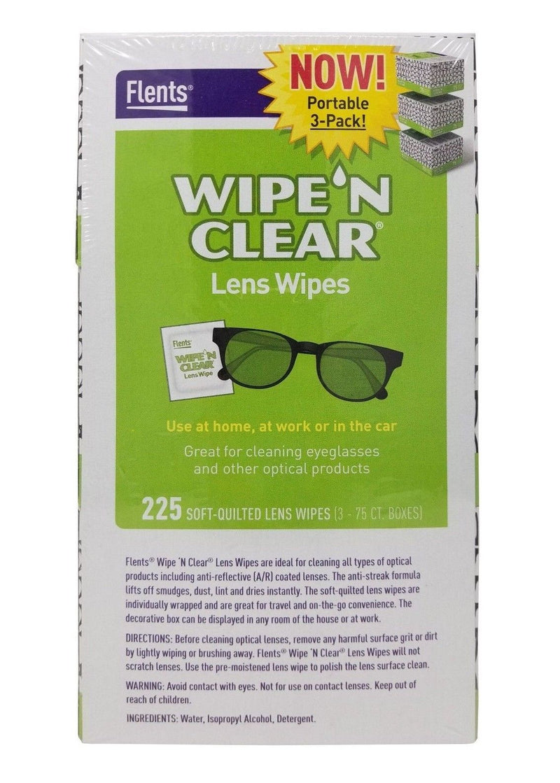 Flents Wipe 'N' Clear Biodegradable Lens Wipes