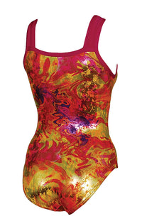 Acid Jazz Foil Leotard Regular Style Back Image