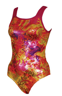 Acid Jazz Foil Gymnastic Leotard Regular Style Front Image