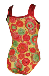 Big Carnival Leotard Square Neck Style Back
