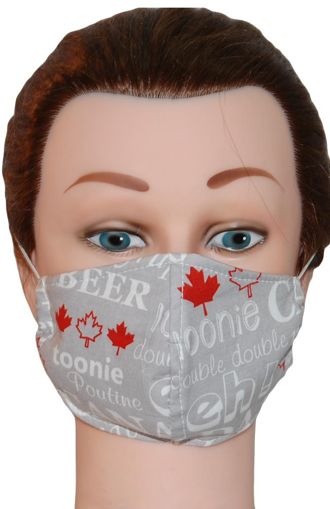 Face Mask Non-Medical Grey Canadian Eh!