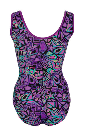 Cosmic Shapes Leotard Tank Style Back