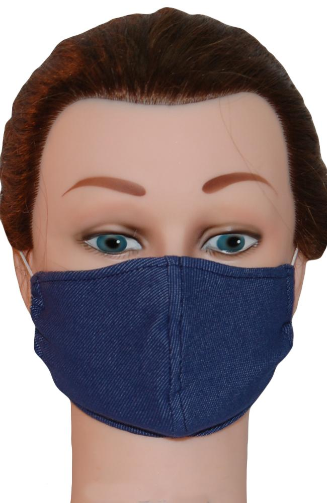 Face Mask Non-Medical Chambray Denim Blue