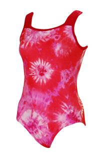 Don't You Dare Pink  Leotard Square Neck Style Front