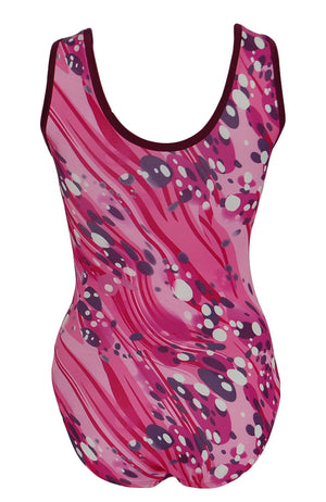 Fizzy Pink Gymnastic Leotard Tank Style Back