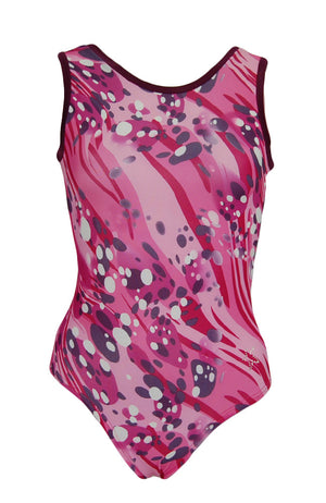 Fizzy Pink Training Leotard Tank Style Front
