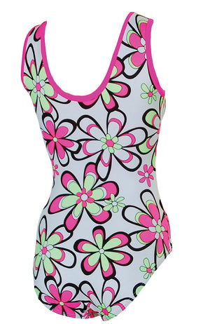 Flower Power Gymnastic Leotard