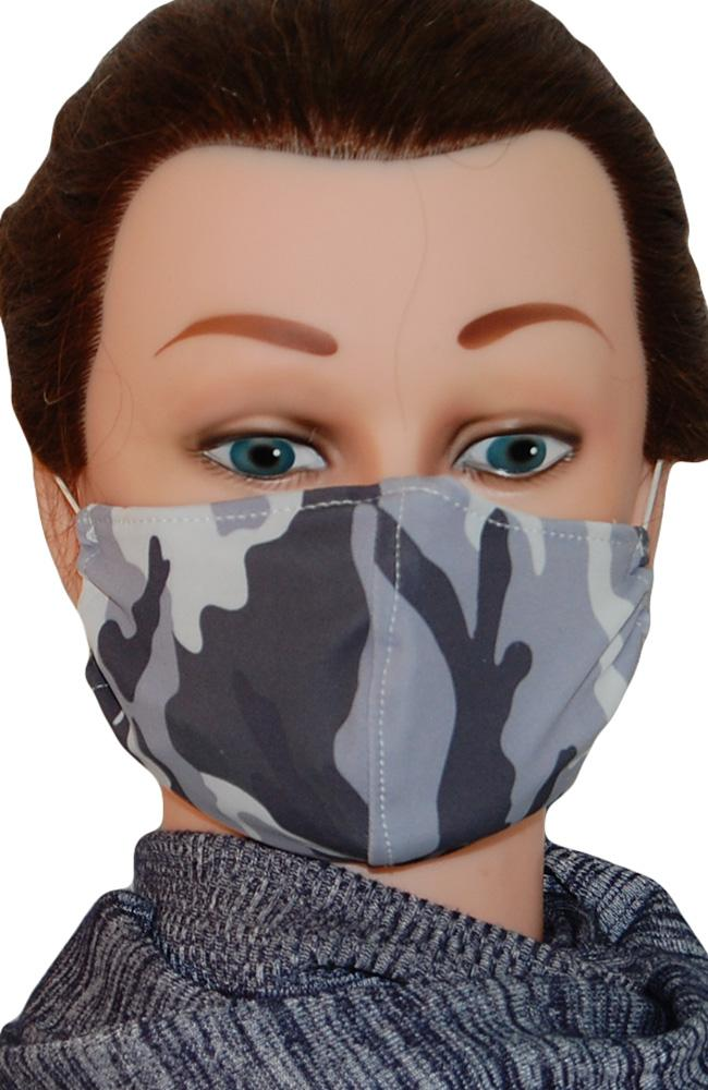 Face Mask Non-Medical Grey Camouflage