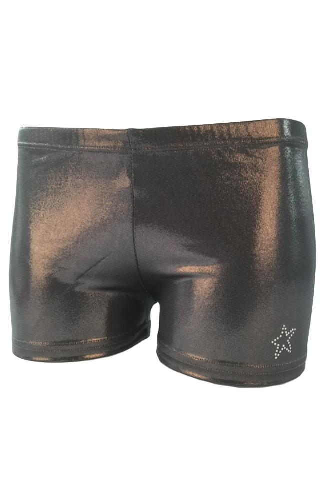 Gymnast Shorts Gun Metal Front