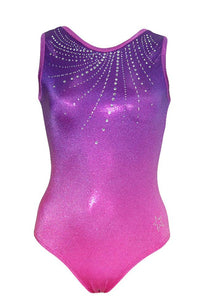 MAGNIFICENT Regular leotard with over 400 Rhinestones Front