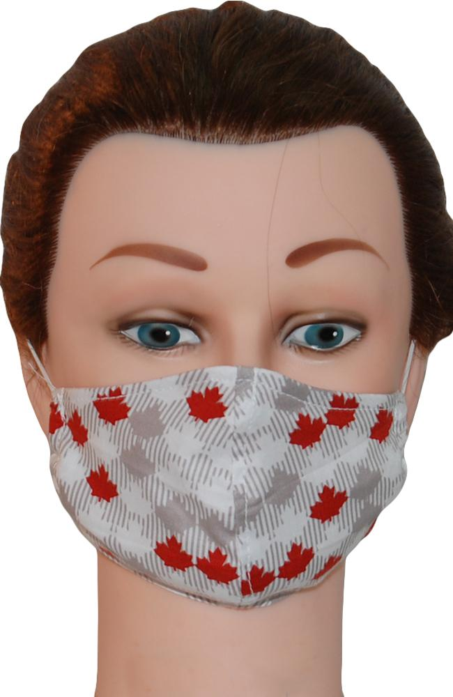 Face Mask Non-Medical Maple Leaf Grey