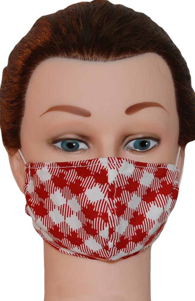 Face Mask Non-Medical Maple Leaf Red and White