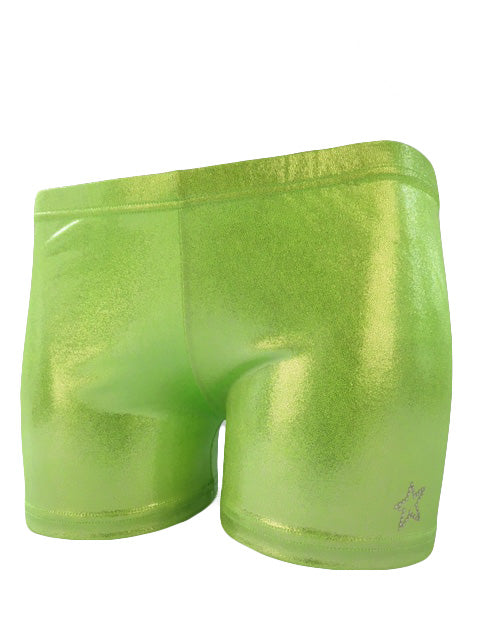Gymnast Shorts New Peridot Front