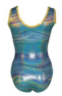 Ocean Wave Leotard Tank Style Back