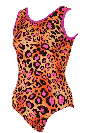 Pink Spotted Leopard Training Leotard