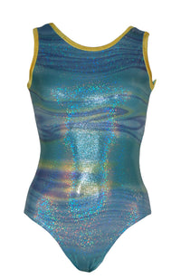 Ocean Wave Leotard Tank Style Front