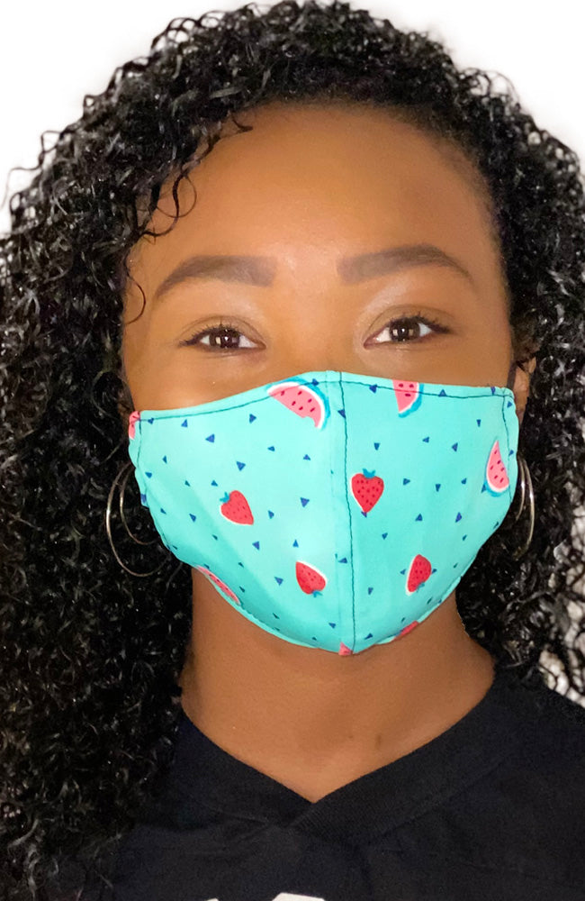 Face Mask Non-Medical Watermelon and Strawberry