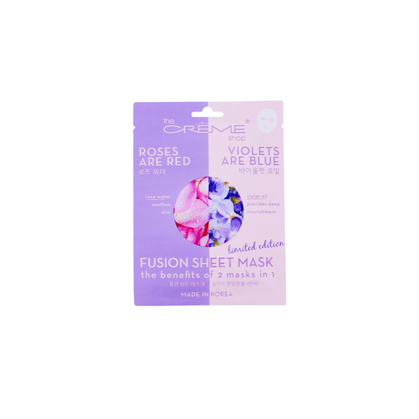 The Creme Shop Rose Water & Violet Oil Fusion Mask - Sincerely Sheetbox