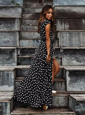 Boho Polka Dot Long Dresses
