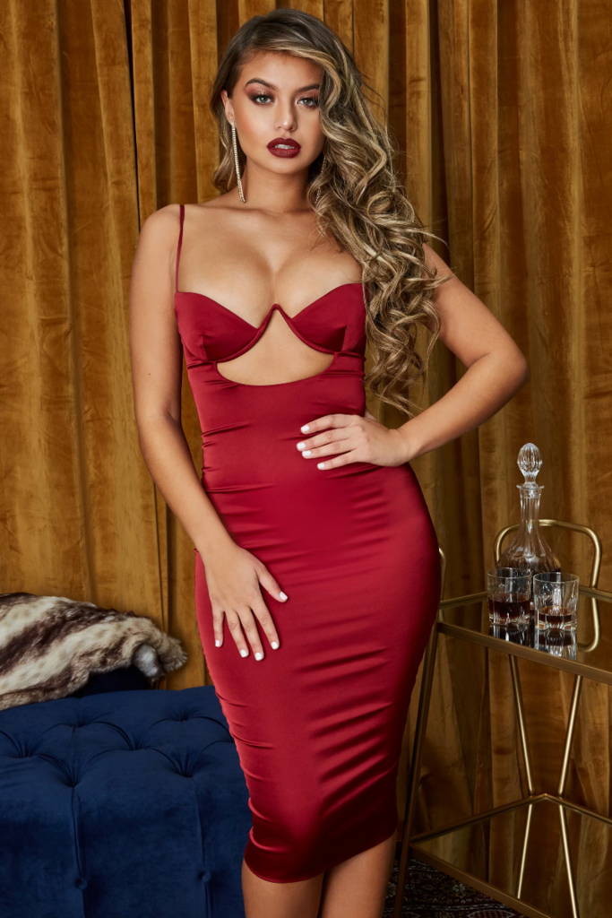 Juliet Satin Cut Out Dress