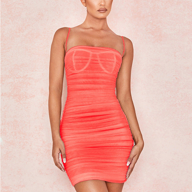 Spaghetti Straps Mini Dress