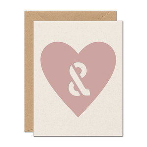 CLEARANCE - You & Me Love Card (Die Cut Symbol)