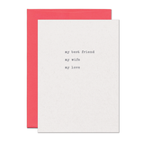 Best Friend Wife Love Card