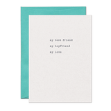 Best Friend Boyfriend Love Card