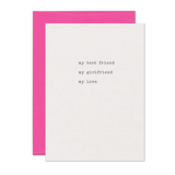 Best Friend Girlfriend Love Card