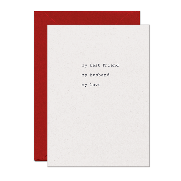 Best Friend Husband Love Card