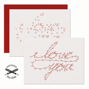 Connect the Dots:  I Love You Card