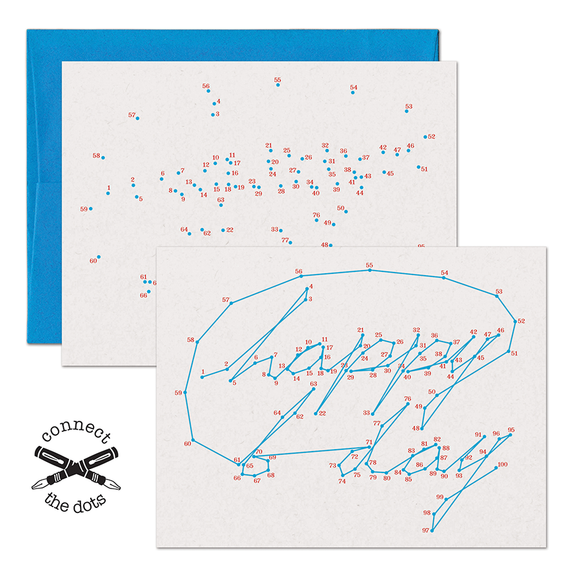 Connect the Dots:  Happy Birthday Card