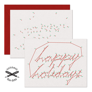 Connect the Dots:  Happy Holidays Card